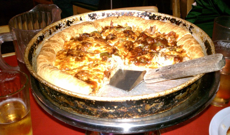 Our BBQ pork pizza