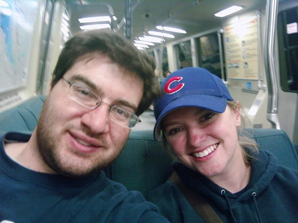 Mike and Megan on the BART